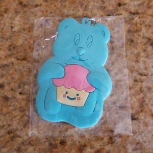 Accessories - Blue Teddy Bear Cupcake Keychain NWOT